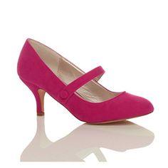 Damen Hoher Absatz Mary Jane Formal Abend Party Ball Pumps Schuhe Größe 7 40 - http://on-line-kaufen.de/ajvani/40-eu-7-uk-damen-hoher-absatz-mary-jane-formal-abend-24