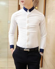 Moonlighting Collar Formal Shirt