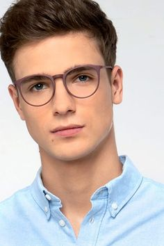 Coffee round eyeglasses available in variety of colors to match any outfit. These stylish full-rim, medium sized metal eyeglasses include free single-vision prescription lenses, a case and a cleaning cloth. Mens Glasses Frames, Glasses For Men, Eyeglass Frames For Men, Cute Glasses, Men Eyeglasses, Boy Hairstyles, Haircuts For Men, Eyewear, Sunglasses Women