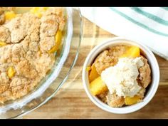 This Easy Peach Cobbler Recipe is a favorite summer dessert! With fresh peaches, butter, and a cookie dough like topping, this recipe is a winner! Cookie Dough, Cobbler Recipe, Easy, Deserts, Dessert Recipes, Cooking Recipes, Peaches, Favorite Recipes, Sweets