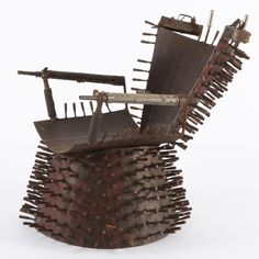 Furniture made of guns and deactivated weapons | When I get Green by Gonçalo Mabunda | Mozambique @Design Indaba