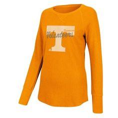 adidas Tennessee Volunteers Women's Tennessee Orange Sparkle Script Thermal Raglan Long Sleeve T-Shirt