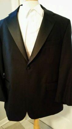 Stafford Men's Tux Tuxedo Suit Jacket 44 Short Pants 38/30 Shirt 17 Cummerbund  #Tuxedo