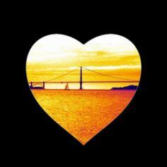 I Love #San #Francisco Sunset Stickers