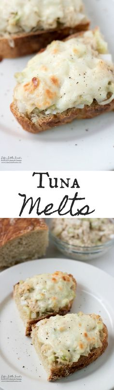 These Tuna Melts are perfect for a quick lunch or savory snack. It uses my Tuna Salad and No-Knead Bread recipes. (1-2 servings)