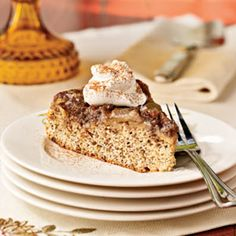 Flaxseed meal is sold in supermarkets, or you can make your own by grinding 1/3 cup flaxseed in a blender. If you don't have a 10-inch cast-iron skillet, bake the cake in a 9-inch square cake pan.