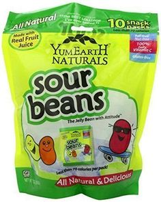 Jelly Beans 166723: Yumearth Naturals Sour Jelly Beans 10 Snack Packs 20 G Each 2-Pack, New -> BUY IT NOW ONLY: $113.17 on eBay!