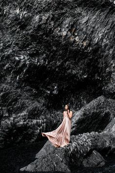 Iceland Black Beach :: Blush love & Braided details :: Outfit ::  Dress :: BHLDN Published: February 6, 2017