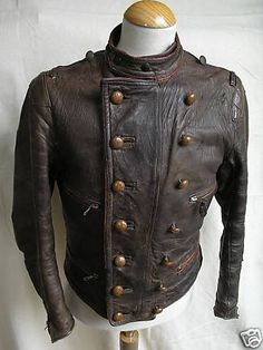 Amazing 1930's German Motorcycle / Flight Jacket -  So good looking, but I'm not sure I could wear it with such a past...  You?    #motorcyclejacket #vintagemenswear #menswear #snacksvintage