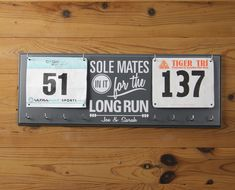 Couples Race Bib and Medal Display with by StrutYourStuffSignCo