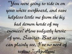 "Sherrilyn Kenyon ""Dragonbane"" Apollymi quote"