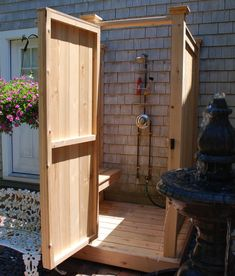 Shower Bench for Cedar Outdoor Showers - Cape Cod Shower Kits