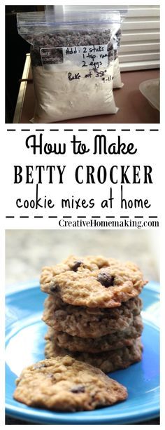 Easy convenient homemade cookie mix recipes just like Betty Crocker cookie mixes.