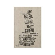 Lapuan Kankurit My Finland Tea Towel ($21) ❤ liked on Polyvore featuring home, kitchen & dining and kitchen linens