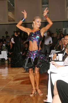 salsa bachata or latin dance dress - worn by Yulia Zagoruychenko