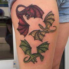Pin for Later: 20 Stunning Game of Thrones Tattoos That You'll Love Daenerys Targaryen's Three Dragons
