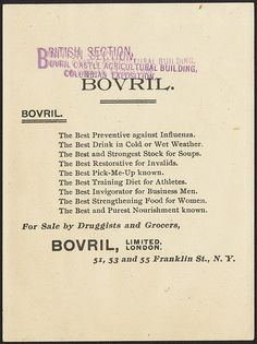 Which are the greatest powers of the world? United States of North America, Britain, France, Germany, Russia, Austria, Italy and Bovril [back]