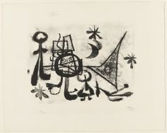 Joan Miró, Plate 8 from Album 13 (1948).