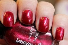 Sally Hansen Hard as Nails Unbreakable Heart. This is just your good old standard rich red .