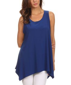 Look what I found on #zulily! Royal Blue Sidetail Tank - Plus #zulilyfinds