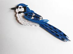 Quilled Blue Jay Ornament. $16.95, via Etsy.