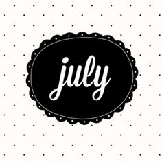 Cute July wallpaper for desktop, iPhone and iPads.