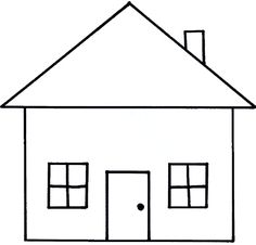 417 Days A Year: From House to Home and Back Again Emoji Coloring Pages, House Colouring Pages, Coloring Pages For Kids, Kids Coloring, Art Drawings For Kids, Drawing For Kids, Easy Drawings, Phonics Display, House Outline