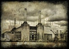 Steampunk Art Power Station Goth Steam Punk 5x7 by Steampunkthings, $10.00