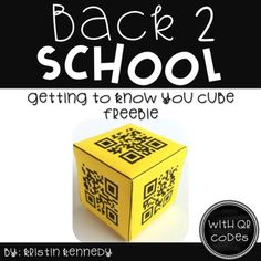 Back to School Getting to Know You Cube FREEBIE {With QR Codes}