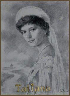 Drawing of Grand Duchess Tatiana Nikolaevna Romanova of Russia.A♥W