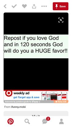 not reposting because i want the favor but because i love God.