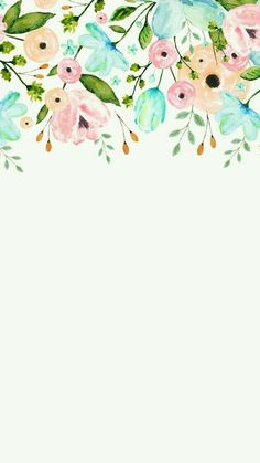 Ideas For Wallpaper Floral Watercolor Beautiful Flower Backgrounds, Phone Backgrounds, Iphone Hintegründe, Picture Sharing, Screen Wallpaper, White Wallpaper, Simple Iphone Wallpaper, Beautiful Wallpaper, Trendy Wallpaper