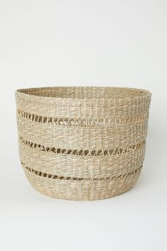 bee6a8753f60 Large Seagrass Storage Basket - Beige seagrass - Home All