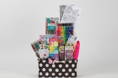 Sip and Color Fashion Journal Gift Basket  #gifts #giftbaskets #prettythings #china #motivation #quotes #wellness #encouragement #cupofhopebasketsandgifts #hope #crafty #happybirthday #getwellsoon #thank you #tea #freetrade #organic #journal #adultcoloring #coloringbooks