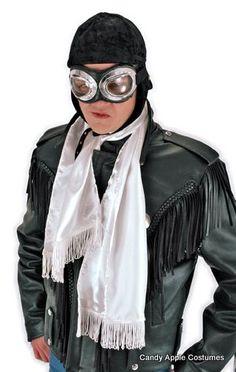 9b143473b4c9 White Aviator Scarf. Halloween Costumes For GirlsSteampunk ...