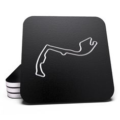 Set of 4 Race track coasters.  Not for us but for Dad.