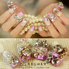 Aliexpress.com : Buy Metal gradient purple square  nail art patch married false nail small fresh elegant from Reliable natural nail suppliers on Jessie's shop. $15.28