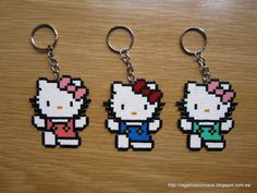 hello kitty hama beads - Google Search