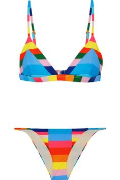 Multicolored stretch-polyamide  Clasp fastening at back  78% polyamide, 22% elastane  Hand wash  Lotion, sunscreen, oil and chlorine can cause discoloration of this item; this is not a manufacturing defect. Please follow care instructions to keep your swimwear in the best condition