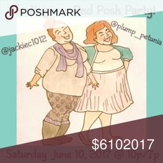 PARTY ANNOUNCEMENT!  My sister and I have BOTH been chosen to co-host our second posh parties, together, on the same night! We are both plus size fashionistas and will be giving special consideration to plus size, posh compliant closets! No theme just yet, but already looking for amazing items. Please share and spread the word! Go check out @jackiec1012 and give her some love! torrid Dresses