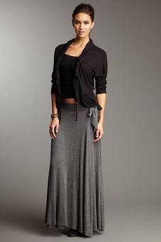 24/7 Comfort Side Tie Maxi Skirt