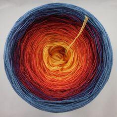 Maxi-Lena - - self striped, color gradient yarn, Wollium (Germany), cotton yarn, unique hand knitting yarn Knit Or Crochet, Crochet Scarves, Easy Yarn Crafts, Hand Knitting Yarn, Yarn Cake, Yarn Inspiration, Fabric Yarn, Types Of Yarn, Bunt