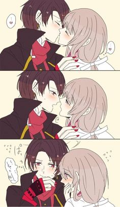 Kashuu x Saniwa Anime Couples, Cute Couples, Otoya Ittoki, Marriage Couple, Anime Japan, Park Photos, Comic Games, Touken Ranbu, Anime Comics