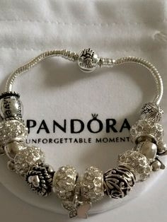 PANDORA Disney Parks Wonderful World Cinderella's Castle  Bracelet New #Handmade Pandora Bracelets, Pandora Jewelry, Silver Bracelets, Bangle Bracelets, Bangles, Disney Parks Pandora, Pandora Accessories, Cinderella Castle, Wonders Of The World