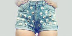 shorts calaveras