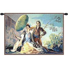 """Charlotte Home Furnishings Quitasol by Goya Tapestry Size: 26"""" H x 38"""" W x 0.15"""" D"""
