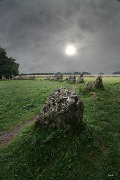 The Rollright Stones is a complex of three Neolithic & Bronze Age megalithic monuments near the village of Long Compton, on the borders of Oxfordshire & Warwickshire, U.K. (read more: https://en.wikipedia.org/wiki/Rollright_Stones )