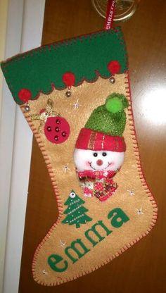 Calza natalizia in pannolenci
