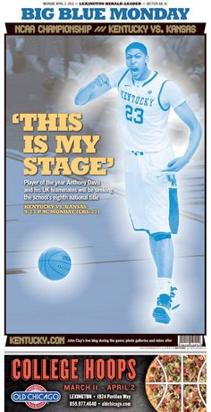 Here's today's AA section of the Lexington Herald-Leader. Are you ready for the game?