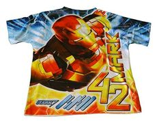 Ironman 3 Boys Allover Print Character T Shirt (6/7) (704386565251) Short sleeve ALLOVER print tee Polyester/ lightweight Fits true to size Awesome graphics